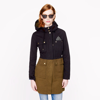 J. Crew Long Colorblock Field Jacket, $198