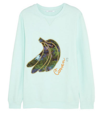 Carven, Appliqued-cotton jersey sweatshirt, www.net-a-porter.com, $295