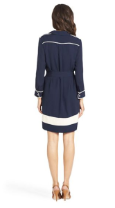 DVF, Cadence Trim Detail Silk Shirt Dress