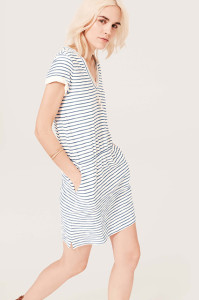 Lou & Grey Stripe Tee Dress, 49.50, available at LOFT.